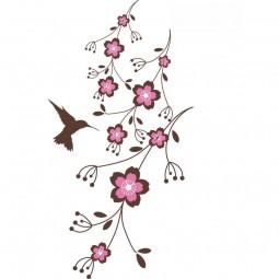 Sticker Colibri et Fleurs