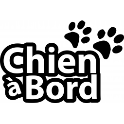 Sticker Chien  à bord...