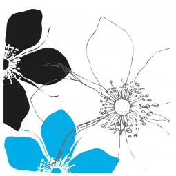Sticker carré Fleurs de...