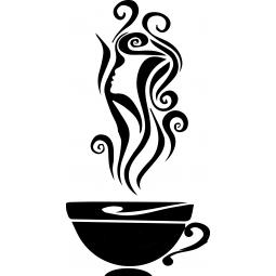 Sticker Café et profil de...