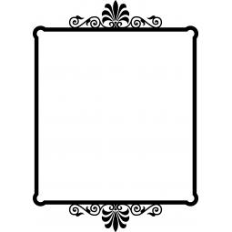 Sticker cadre motifs floraux