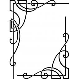 Sticker cadre moderne