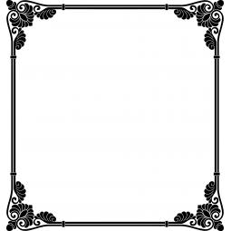 Sticker cadre baroque carré