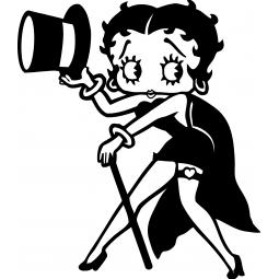 Sticker Betty Boop cabaret