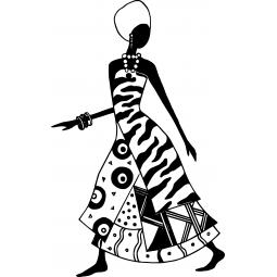 Sticker femme en tenue...