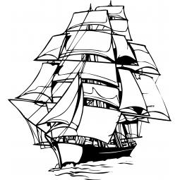 Sticker bateau 3 mats