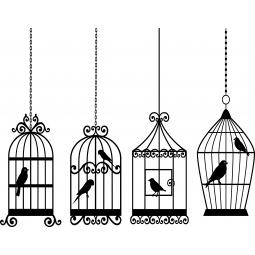 Stickers 4 cages à oiseaux