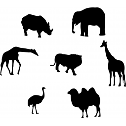 Stickers Silhouettes d'animaux