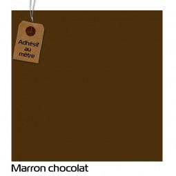 Adhésif Marron chocolat au...