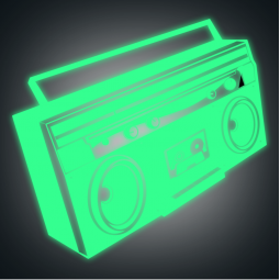 Sticker radio cassette PHOSPHO