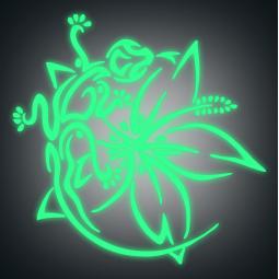 Sticker Fleur et salamandre...