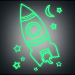Sticker Fusée dans l'espace...