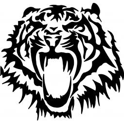 Sticker Tigre rugissant FLUO