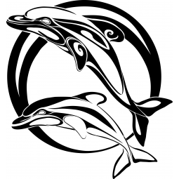 Sticker Dauphins FLUOS