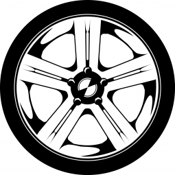 Sticker Roue de voiture FLUO