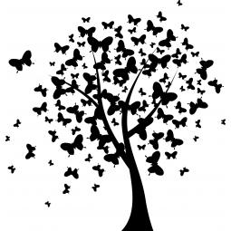 Sticker Arbre aux papillons