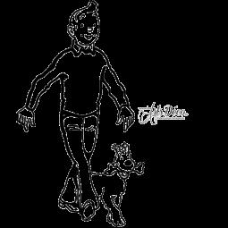 Sticker Tintin et Milou
