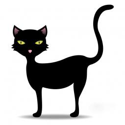 Sticker chat au museau rose