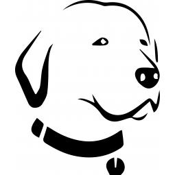 Sticker fluo Labrador au...