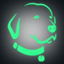 Sticker phospho Labrador au...