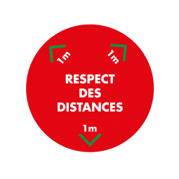 Sticker Respect des distances