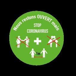 Sticker Stop Coronavirus