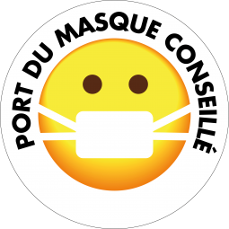 Sticker Smiley Masque...