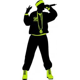 Sticker Chanteur de rap
