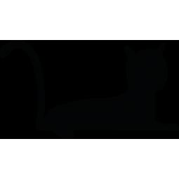 Sticker Chat couché