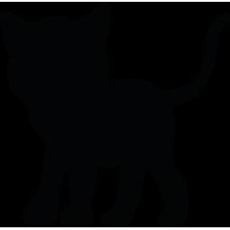 Sticker Silhouette de Chaton