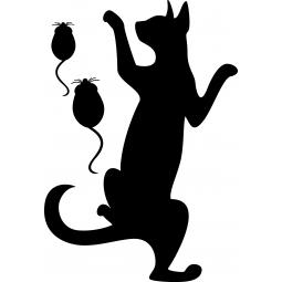 Sticker FLUO Chat et souris