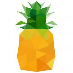 Sticker Ananas en origami