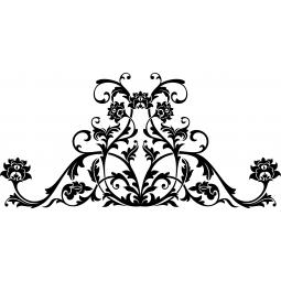 Sticker Tête de lit florale