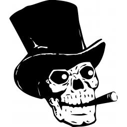 Sticker Tête de mort et...