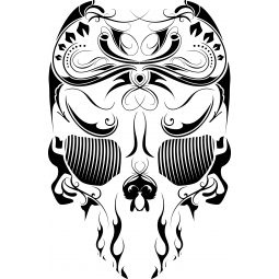 Sticker Visage tribal