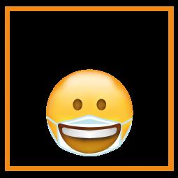 Sticker Smiley Sourire obligatoire