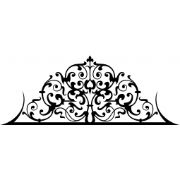 Sticker Tête de lit baroque