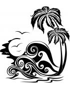 Stickers Les Tropiques - déco tropicale, exotique - Mon Sticker Déco