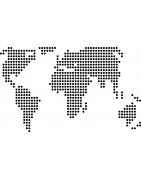Stickers Cartes du monde - déco voyage - Mon Sticker Déco
